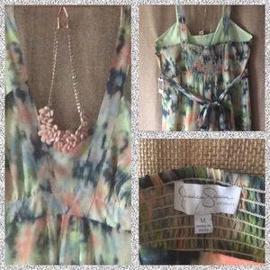NWT maternity maxi colorful dress